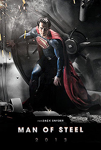 Fake Man of Steel poster with official shot of Henry Cavill as Superman