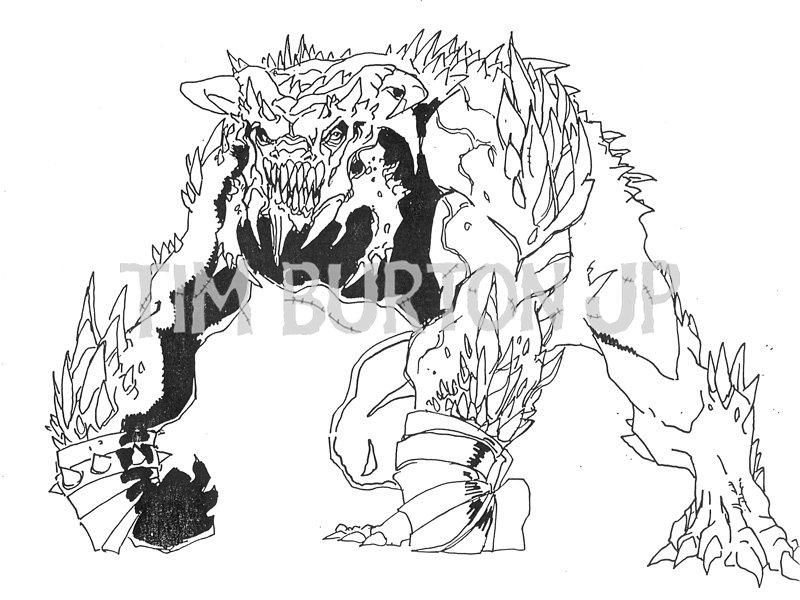 doomsday coloring pages | New Concept Art From Tim Burton's SUPERMAN LIVES Hits ...